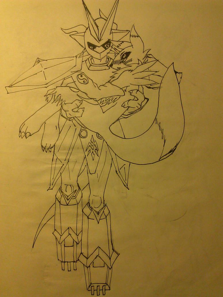 Magnamon and Renamon I by Brendan-Mudk