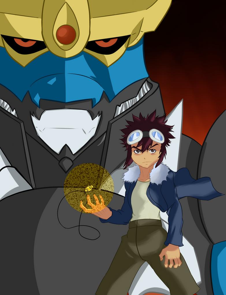 Daisuke and Imperialdramon by Brendan-Mudk