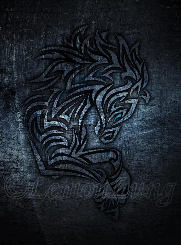 Metallic Horse Tribal by LemonLung