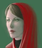 Red shawl by Ciuva