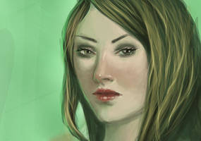 Another green portrait by Ciuva