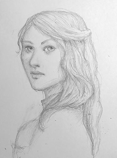 Pencil portrait by Ciuva