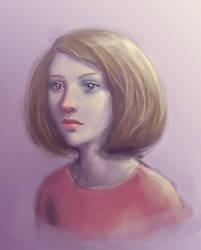 Purple portrait by Ciuva