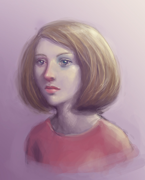 Purple portrait by Ciuva