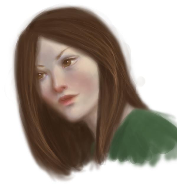 Brunette sketch by Ciuva