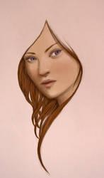 Quick brunette sketch by Ciuva