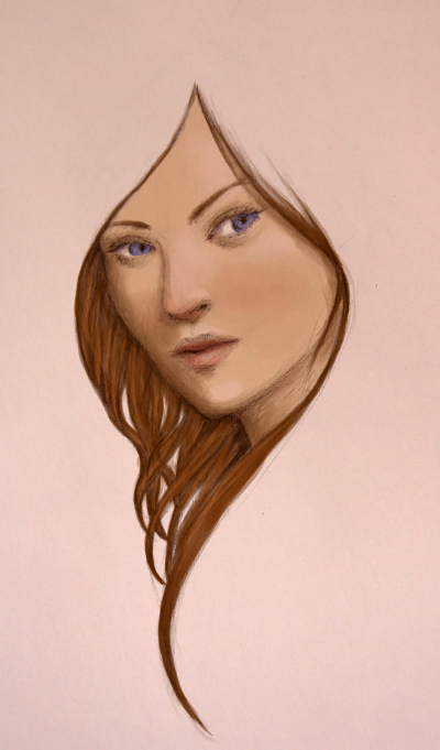 Quick brunette sketch by Ciuva
