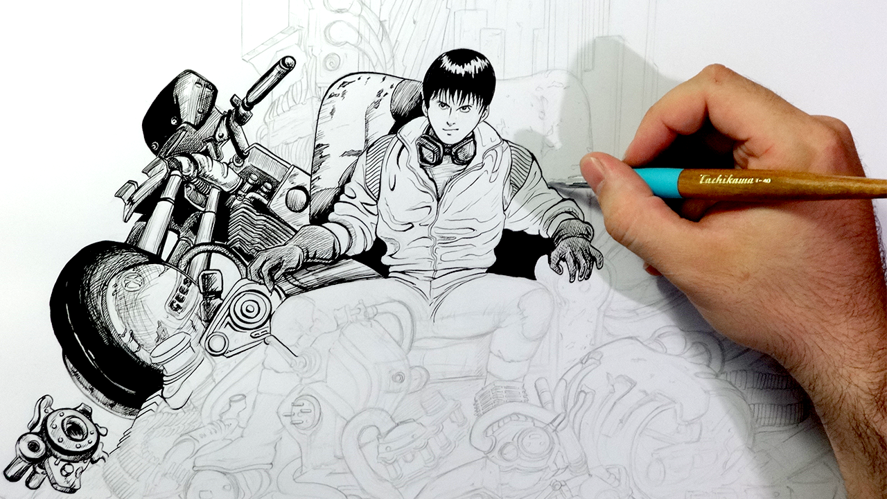 ... Akira Kaneda G Pen Timelapse Video by isacsamuel