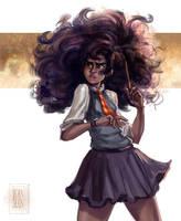 Harry Potter - Black Hermione by ArainMorn