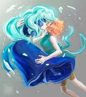 SU: Pearl x Sapphire [SPEEDPAINT] by ArainMorn