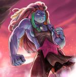 SU: Bismuth [SPEEDPAINT] by ArainMorn