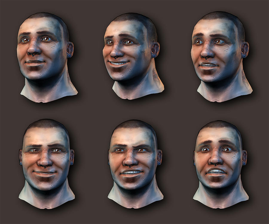 Head animation test by Pa-Go