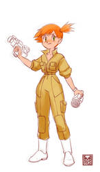 $15 sketch - Misty in April O'neil's jumpsuit by Pa-Go