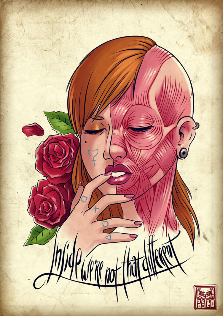 inside we're not that different - tattoo design by Pa-Go