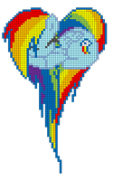 Rainbow Dash heart pattern by indidolph