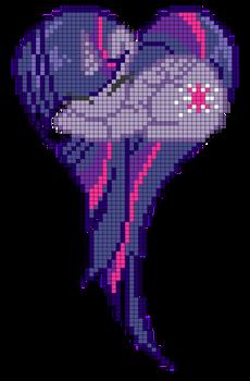 Princess Twilight Sparkle heart pattern