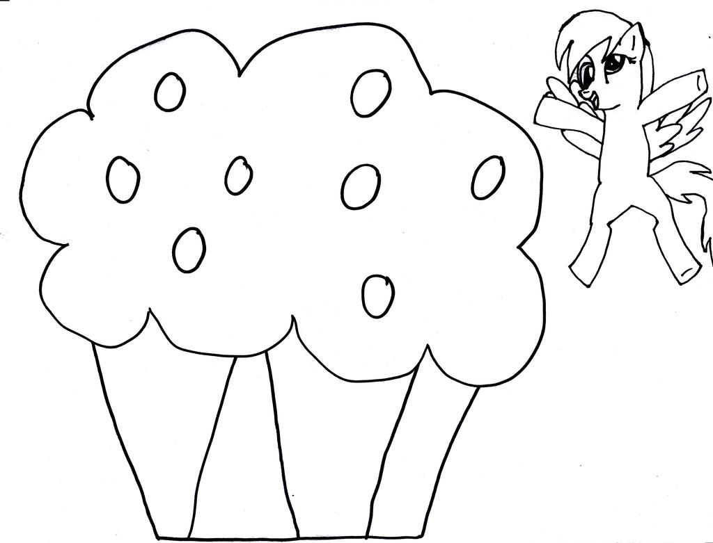 Derpy hooves muffin line art by mizuki12341 on deviantart for Derpy hooves coloring pages