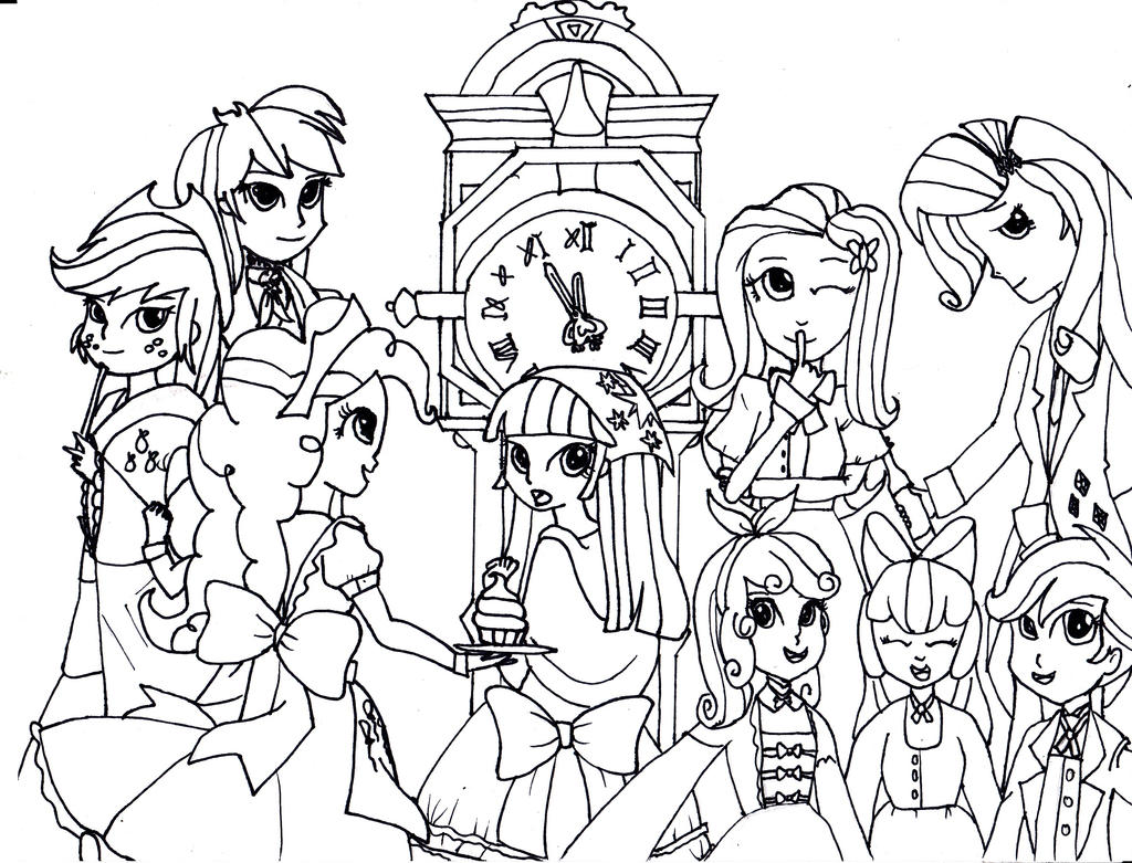 My Little Pony Friendship Is Magic Coloring Pages Equestria Girls ...