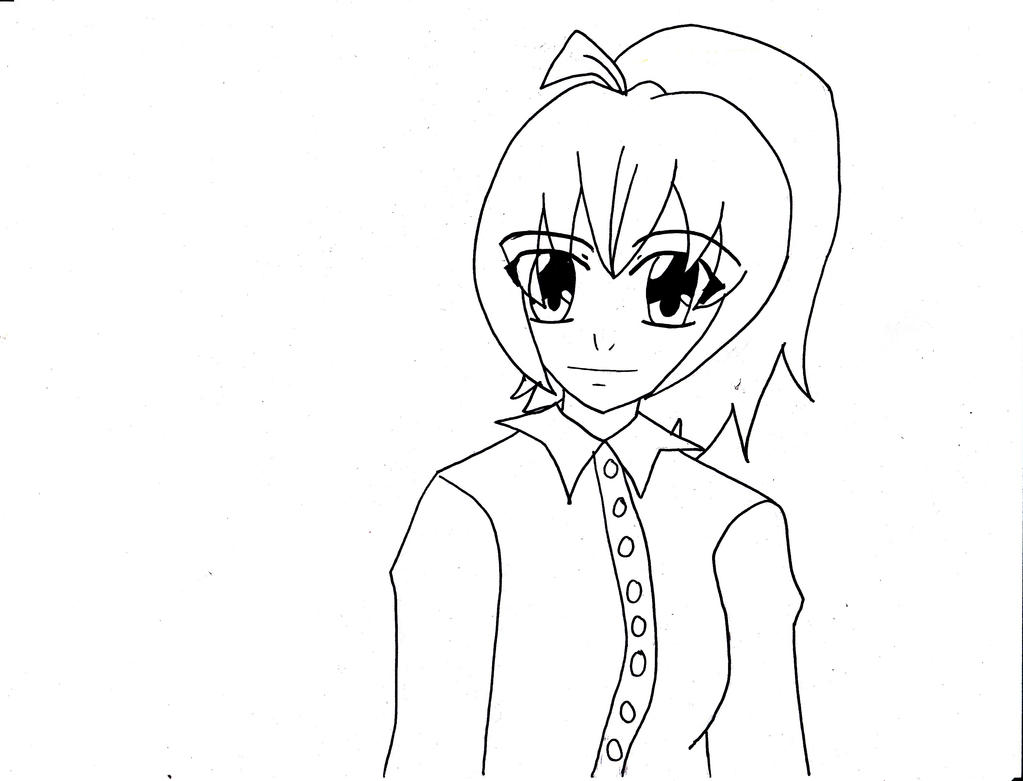 Line Drawing Violet : Violet oc request line art by mizuki on deviantart