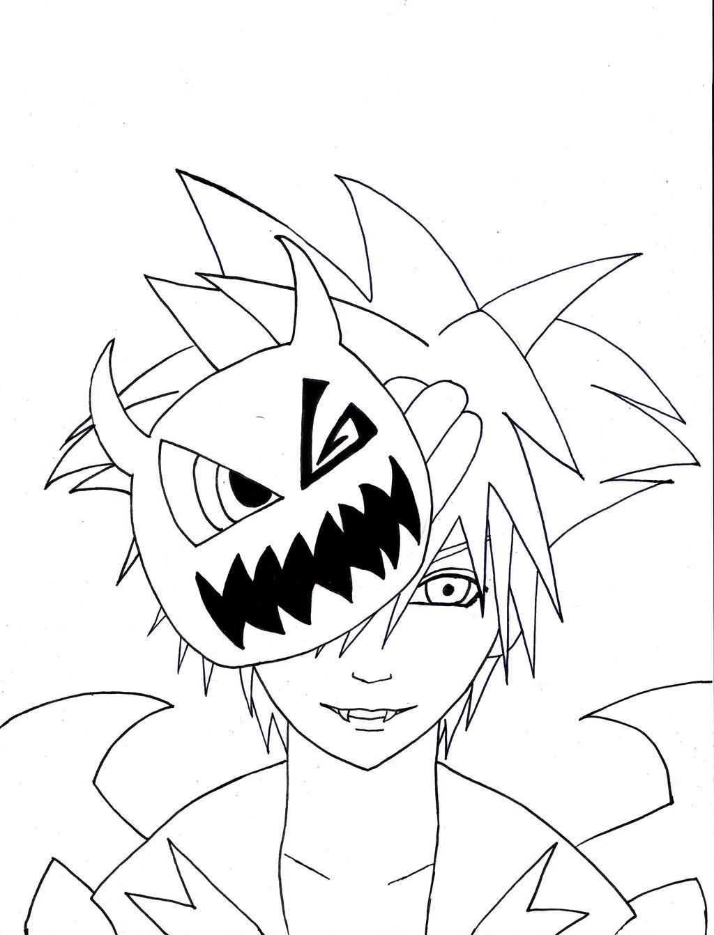 Line Art Halloween : Halloween sora line art by mizuki on deviantart