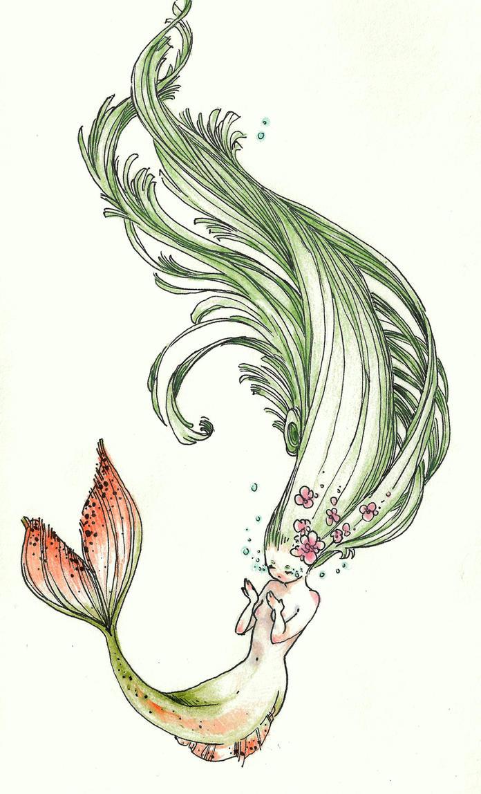 Simple Mermaid Tattoo Designs