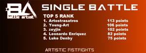 TOP 5 RANK Single Battle Oct