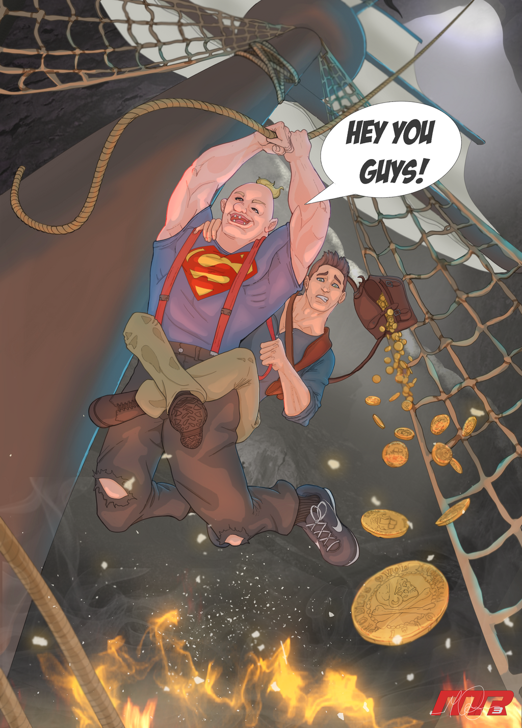 Goonies/Uncharted 4 Crossover by RAYN3R-4rt