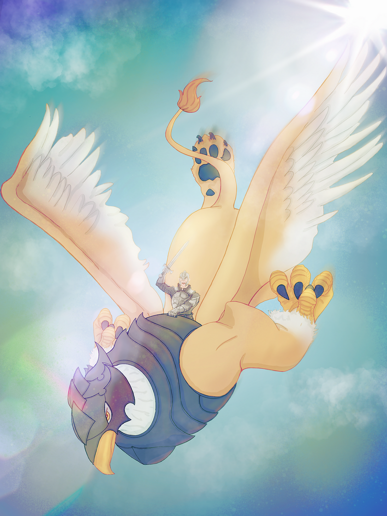 Griffin in flight by RAYN3R-4rt