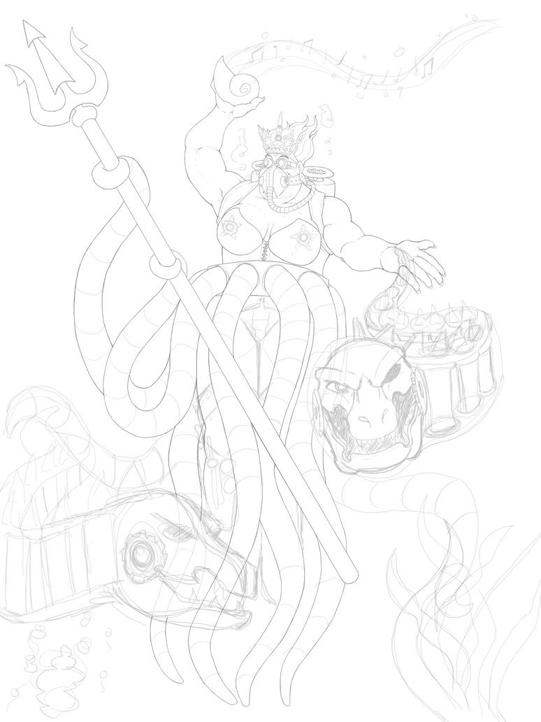 WIP Steampunk Ursula by RAYN3R-4rt