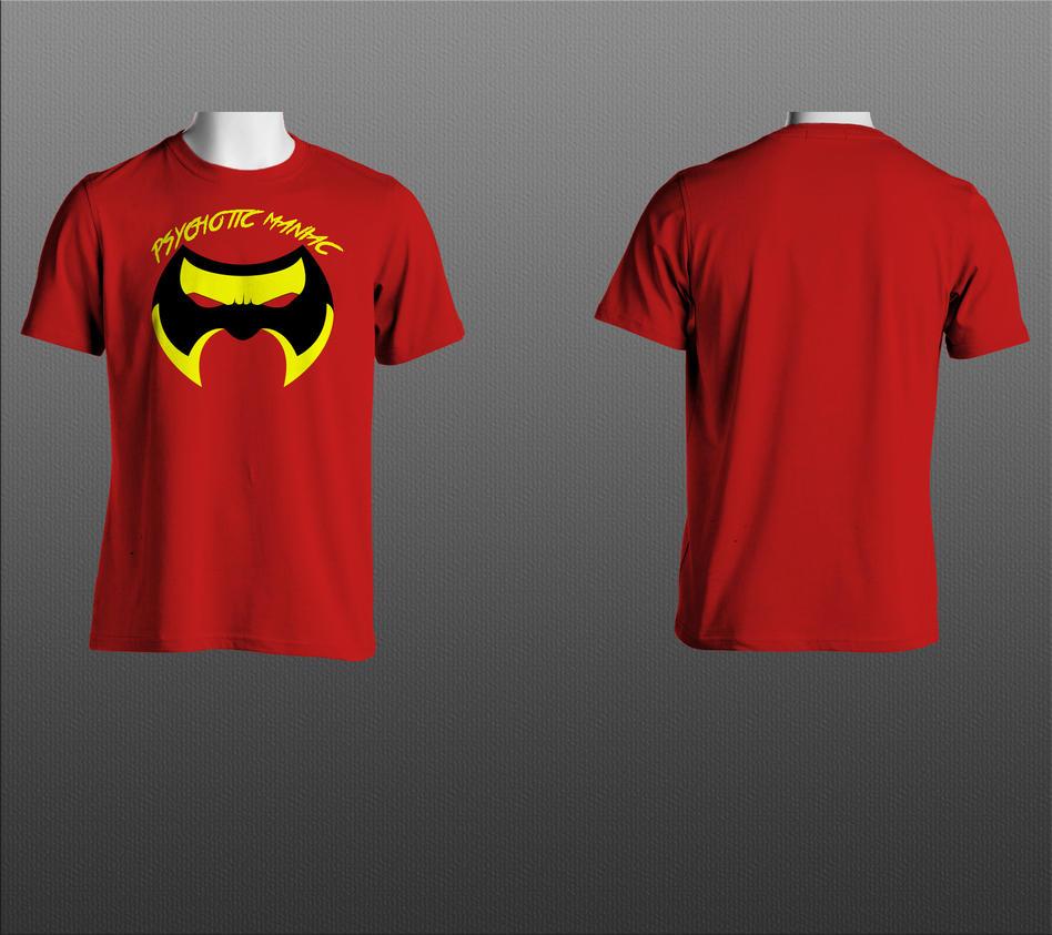 Psychotic maniac t-shirt design. by RAYN3R-4rt