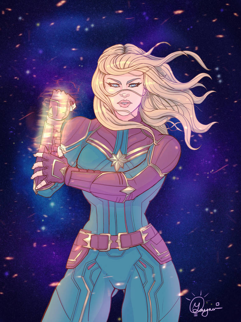 Captain Marvel Pin up