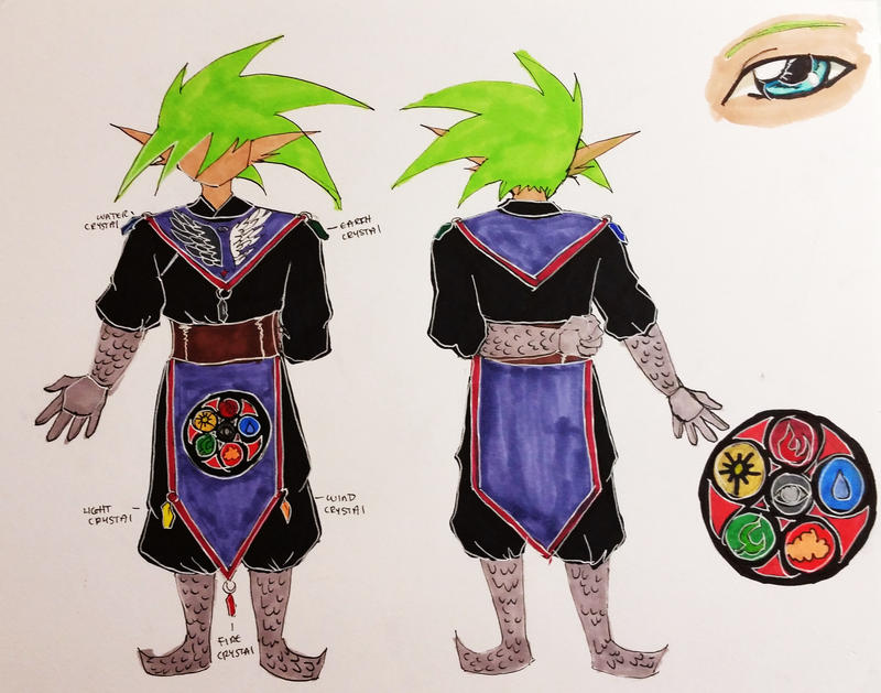 Po's wizard outfit by Moru-sama