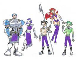 Teen Titans Tamaranian Style by ChocolateOverlander