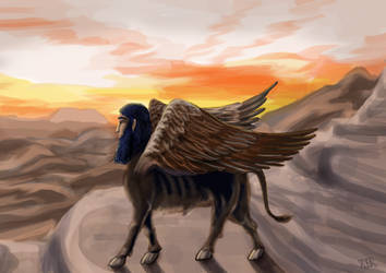 Sofolkes the Lamassu by Feuerlilie