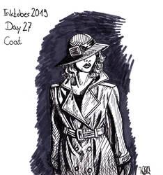 Inktober 2019 - Day 27 - Coat