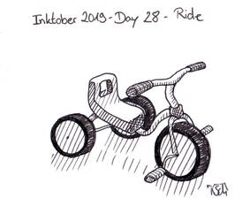 Inktober 2019 - Day 28 - Ride