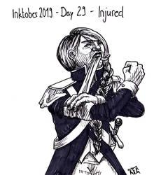 Inktober 2019 - Day 29 - Injured
