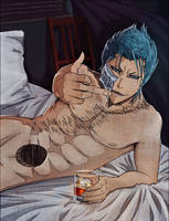 grimmjow fan service by Child-of-the-Ashes