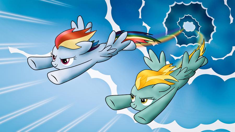 Rainbow and Lightning by shtopor7