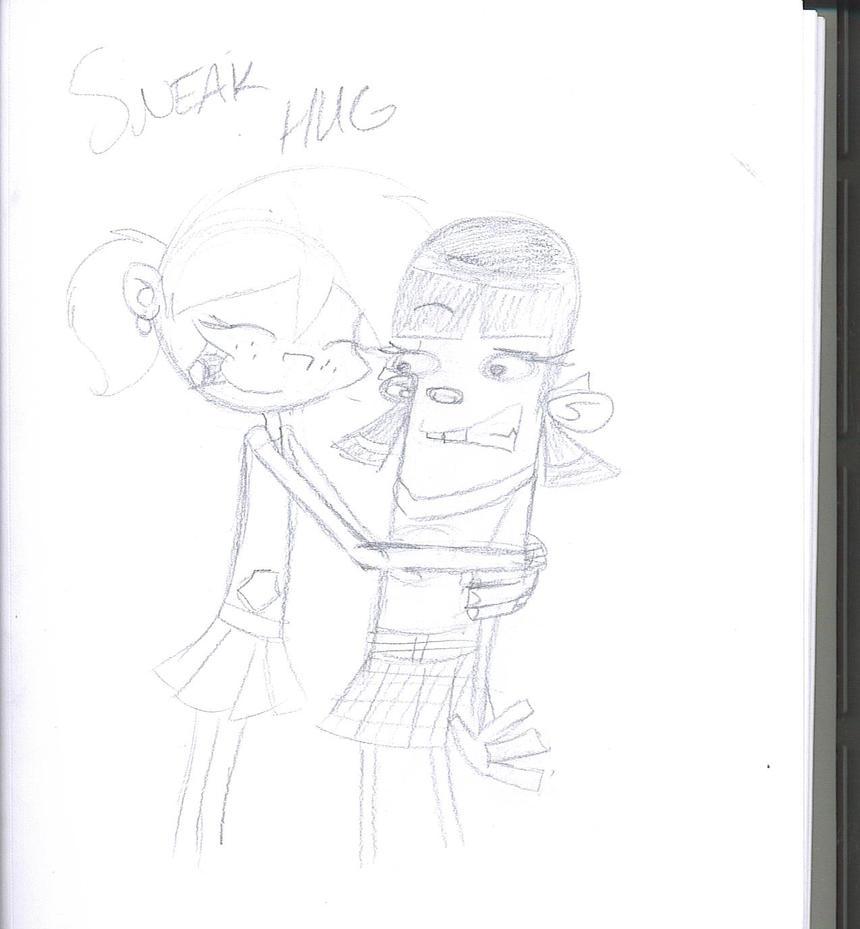 One Line Text Art Hug : Sneak hug yo by coralinejones on deviantart