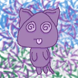 Purple Kitty Swirling by KKarth
