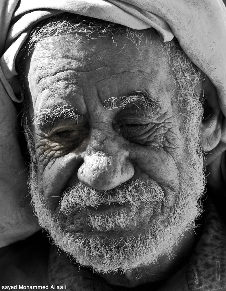 Old man black and white by smohammed on deviantart