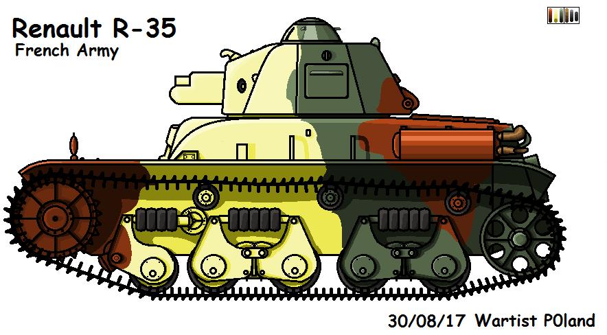 Renault R-35 by P0landWW2