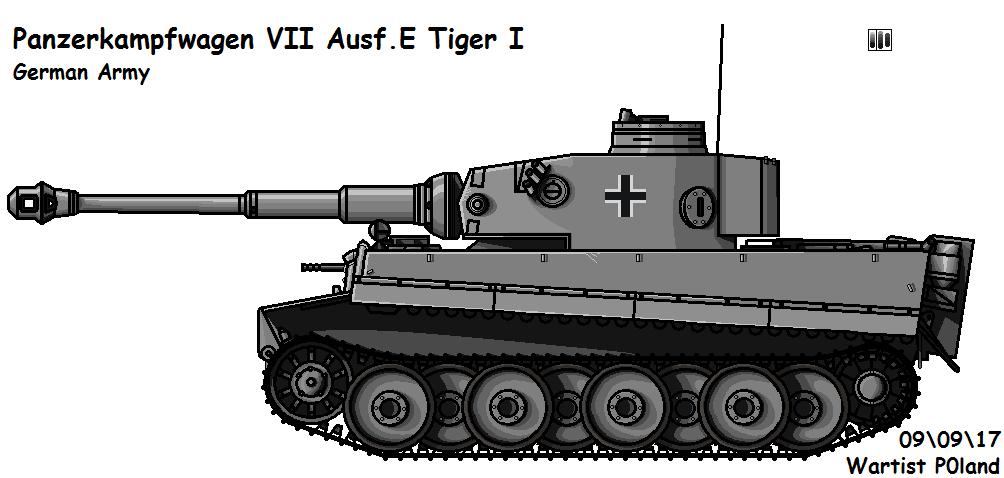 Panzerkampfwagen VI Ausf. E Tiger I (Early) by P0landWW2