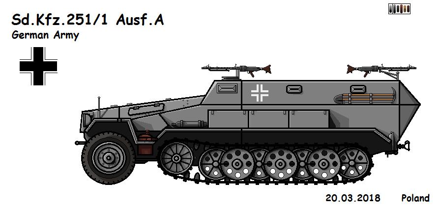 Sd.Kfz.251/1 Ausf.A by P0landWW2
