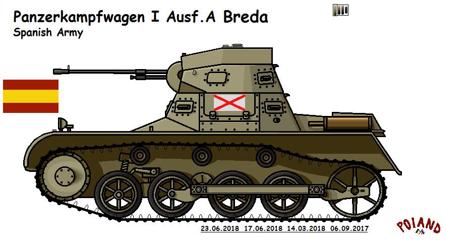 Panzerkampfwagen I Ausf.A Breda by P0landWW2
