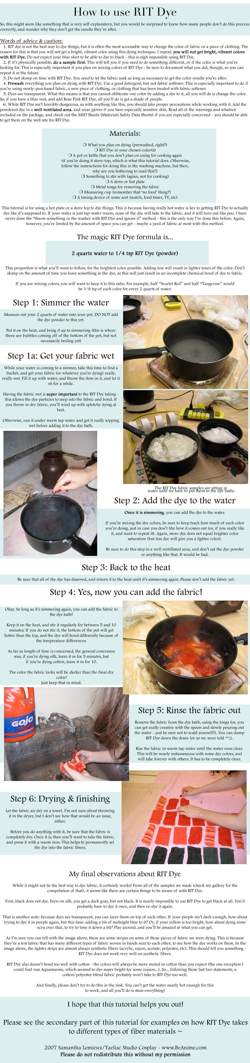Tutorial: How to use RIT Dye by taeliac