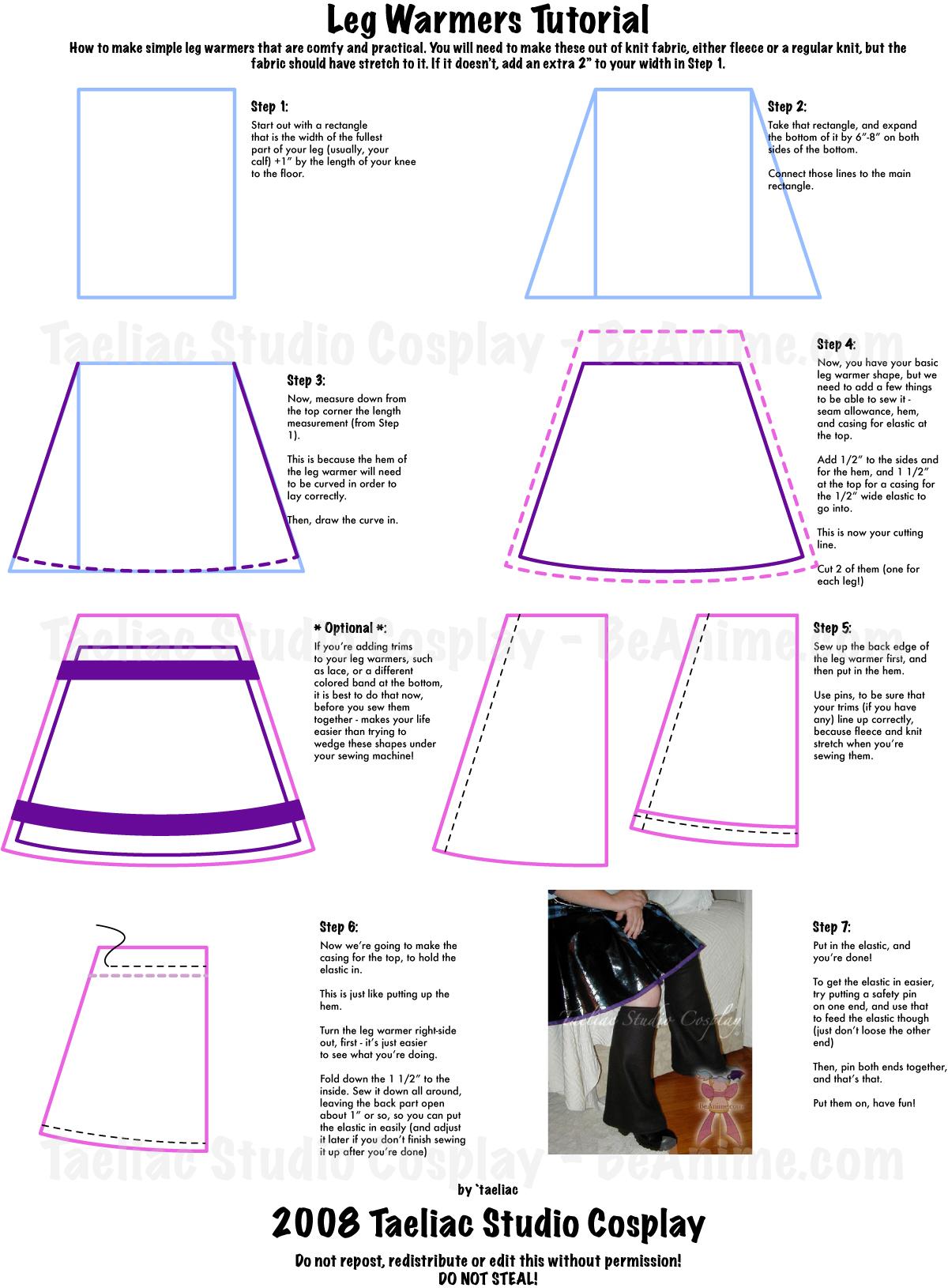 Tutorial : Simple Leg Warmers