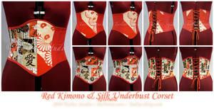 Red Kimono Silk UB Corset