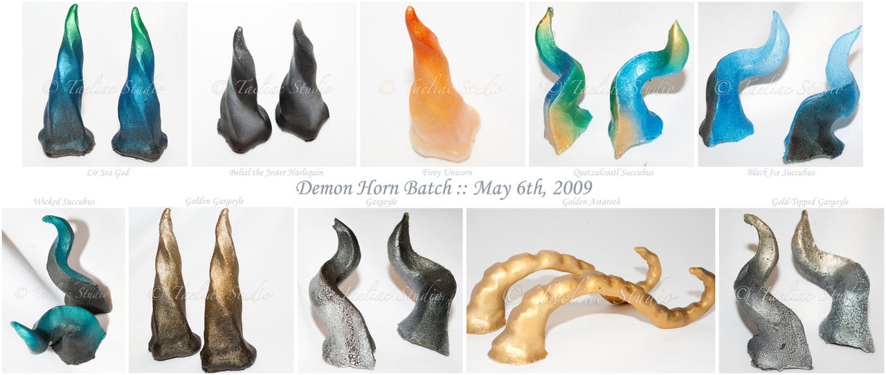 Demon Horn Prosthetics . 03 by taeliac